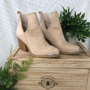 Shoes - Tan Suede Booties